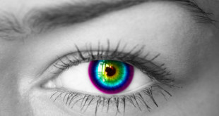 Colorful eye.