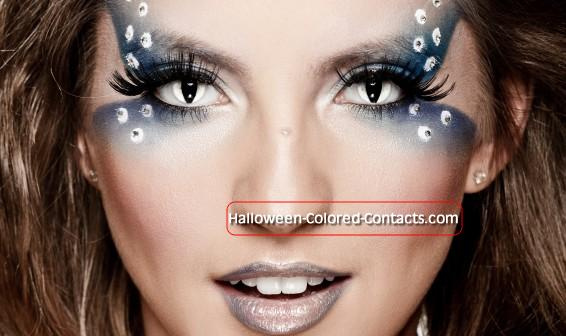 Prescription Colored Contacts Halloween black contact lenses full eye all black sclera pure solid pitch large blackout cheap non prescription buy black contacts Colored Contacts