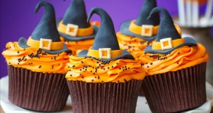 halloween-cupcake-decorations-witch-hats-orange-cream